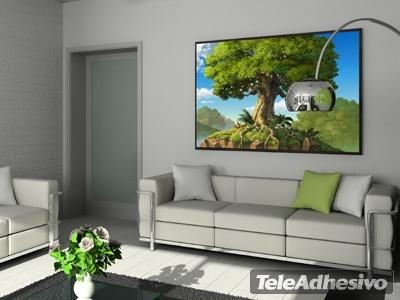 Adesivi Murali Paesaggio- Albero e radici