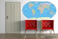 Adesivi Murali: Mappa del mondo 1