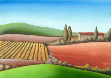Adesivi Murali Paesaggio di fattoria