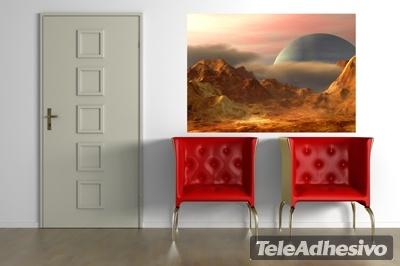 Adesivi Murali Paesaggio di un altra pianeta