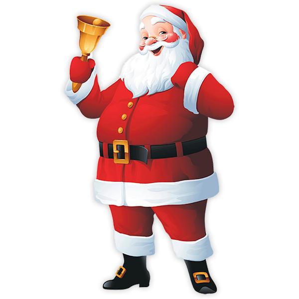 Adesivi Babbo Natale.Adesivo Murale Bambini Babbo Natale Con La Sua Campana Stickersmurali Com
