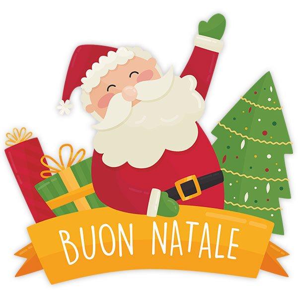 Buon Natale Italia.Adesivo Murale Bambini Buon Natale In Italiano Stickersmurali Com