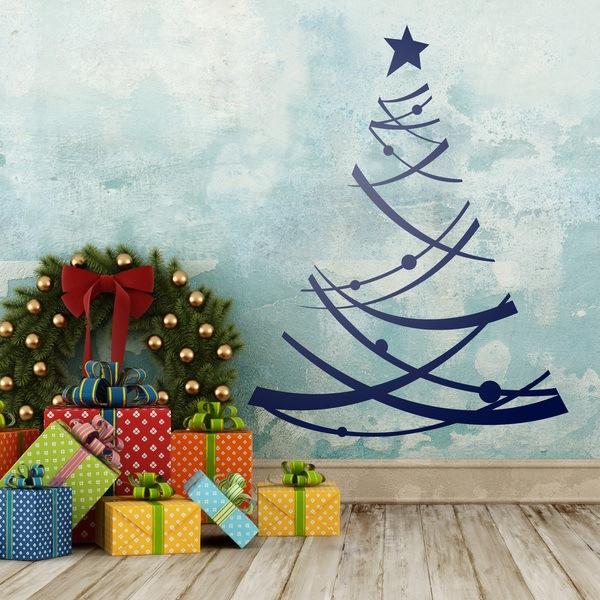 Adesivi murali di natale for Dibujos decorativos de navidad