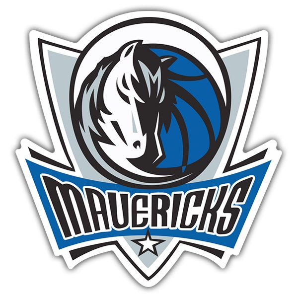 Adesivi per Auto e Moto: NBA - Dallas Mavericks scudo