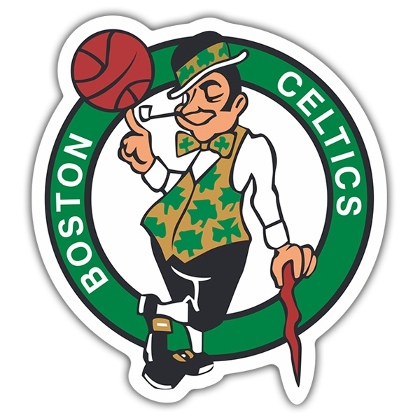 Adesivi per Auto e Moto: NBA - Boston Celtics scudo
