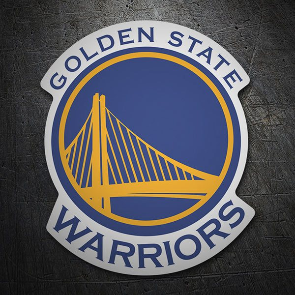 Adesivi per Auto e Moto: NBA - Golden State Warriors scudo