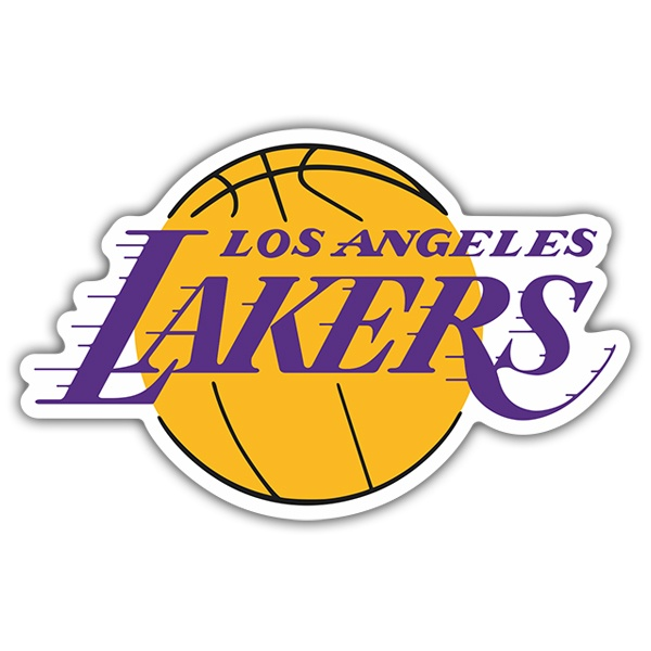 Adesivi per Auto e Moto: NBA - Los Angeles Lakers scudo