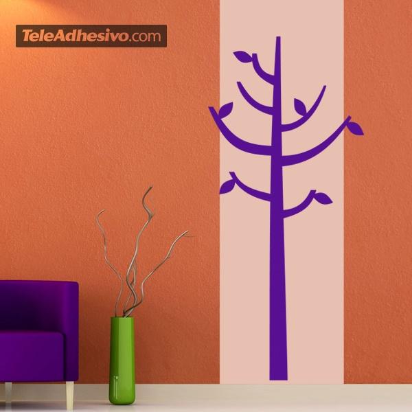 Adesivo murale Albero sotto forma di appendiabiti | StickersMurali.com