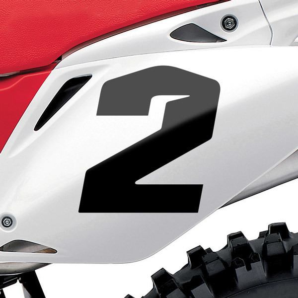 Adesivo Moto Cross Decalcomania Numero Colore Grigio Centimetri cm 15