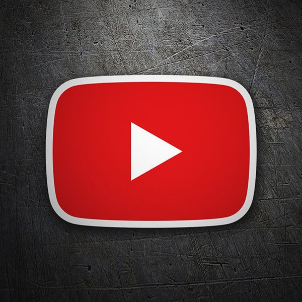 Adesivi per Auto e Moto: Youtube Play