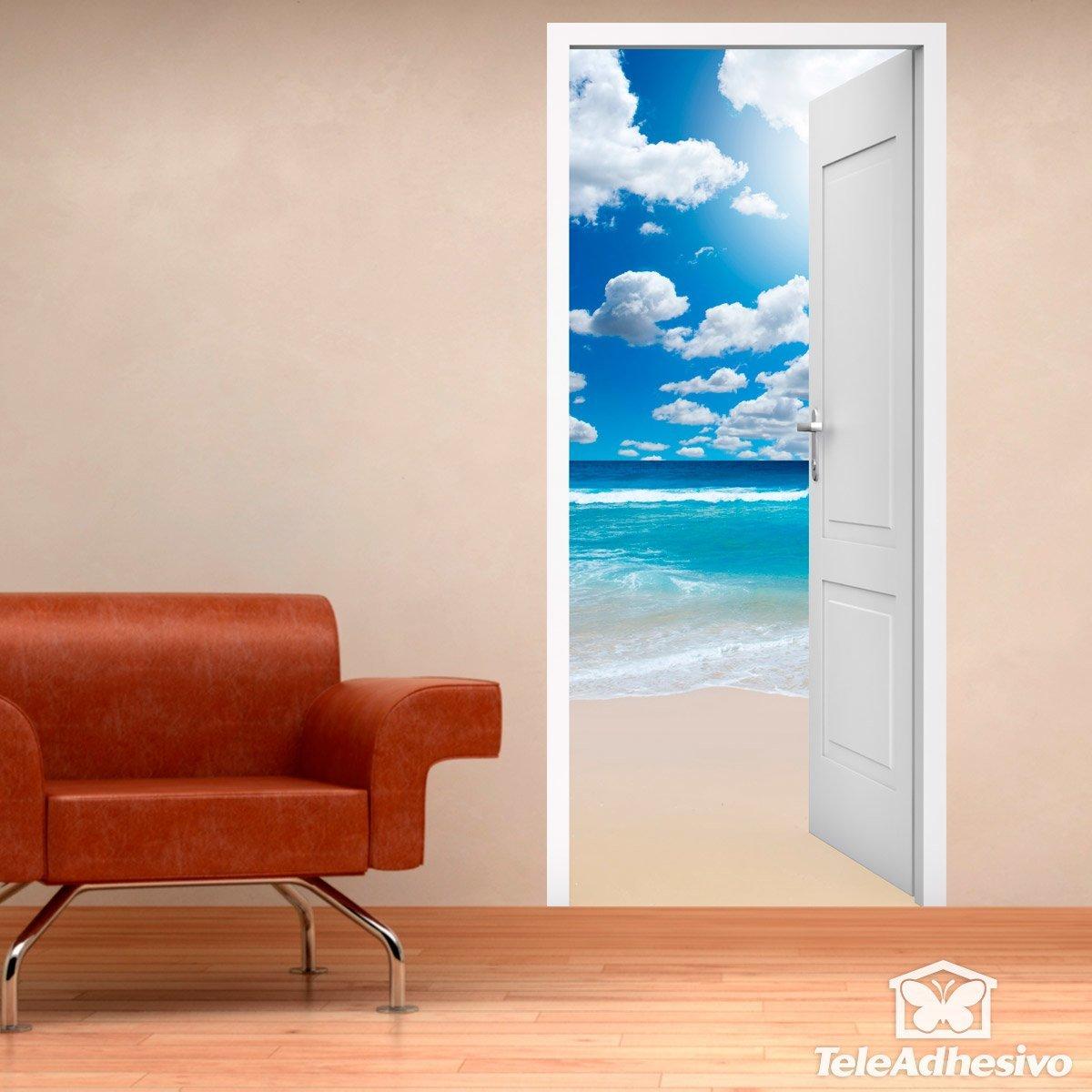 Porta aperta spiaggia cielo nuvole for Porta aperta