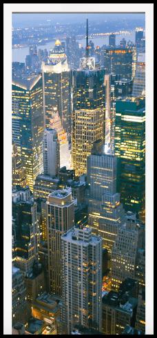 Adesivo murale porta new york grattacielo for Appartamento grattacielo new york