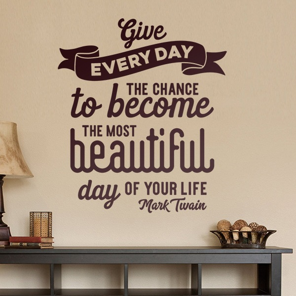Adesivi Murali: Give to each day...