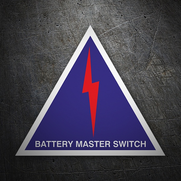 Adesivi per Auto e Moto: Battery master switch