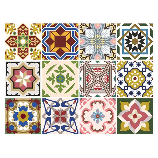 Kit 48 adesivo piastrelle classics for Adesivi murali piastrelle