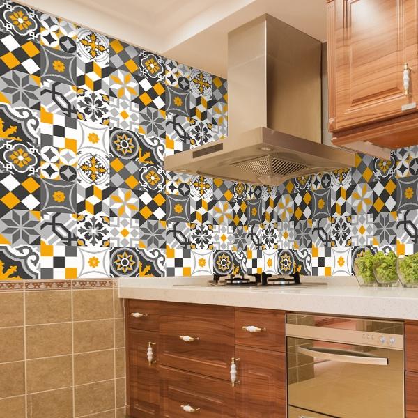Kit 48 piastrelle adesive cucina ornamentale ...