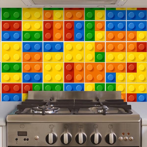 Kit 49 adesivo per piastrelle lego for Adesivi murali piastrelle