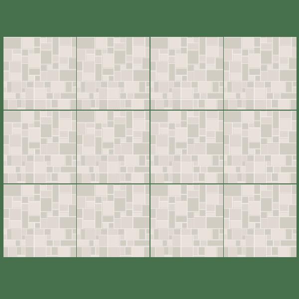 Kit 48 adesivo per piastrelle grigio for Stickers adesivi per piastrelle