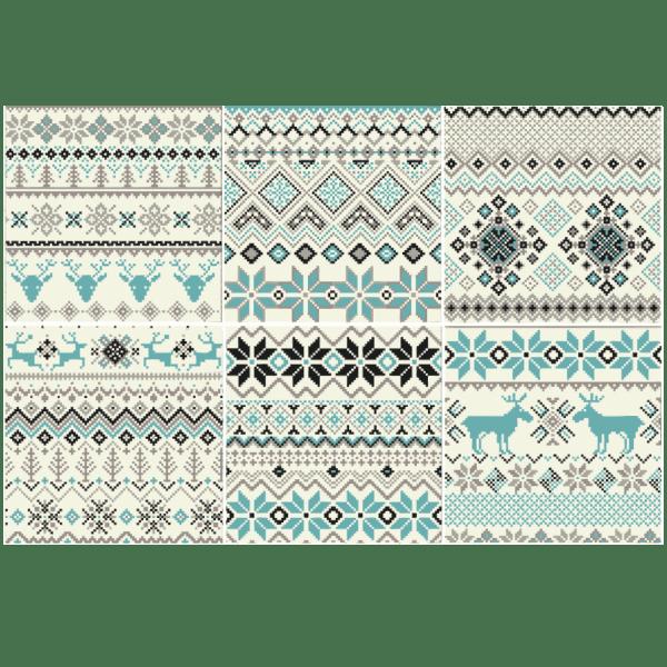 Kit 48 adesivo per piastrelle inverno for Adesivi murali piastrelle