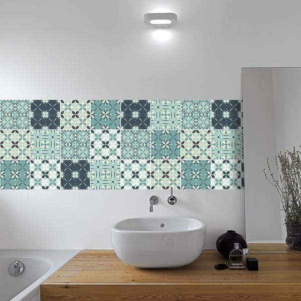 Piastrelle adesive for Stickers per mattonelle bagno