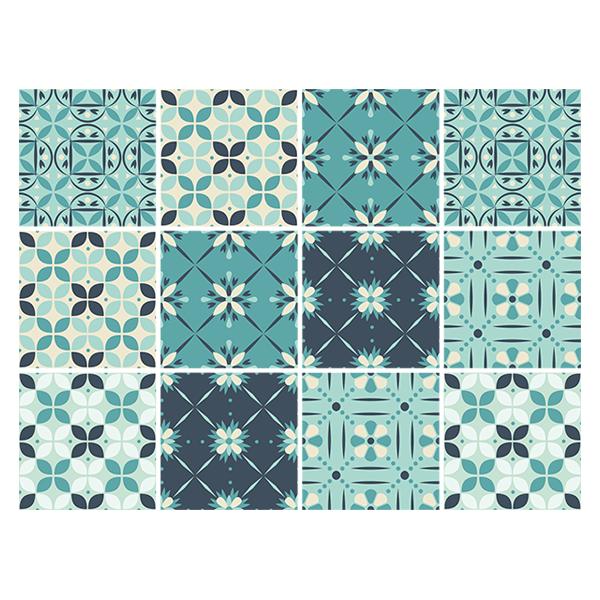 Kit 48 adesivo per piastrelle mosaico verde - Adesivi per piastrelle ...