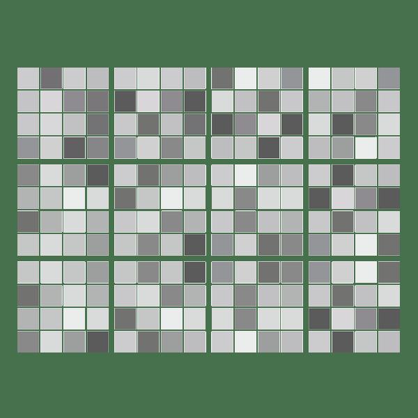 kit 48 adesivo per piastrelle mosaico grigio
