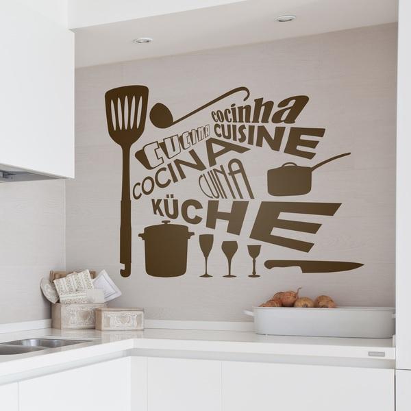 Adesivi murali per cucina stickers for Scritte adesive cucina