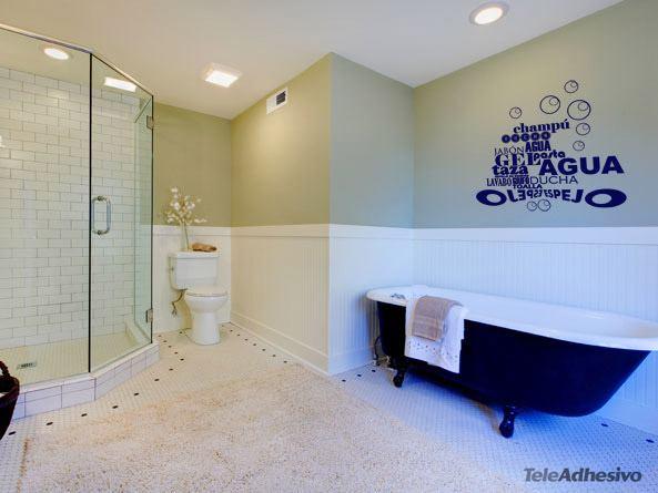 sticker murali bagno nel bagno