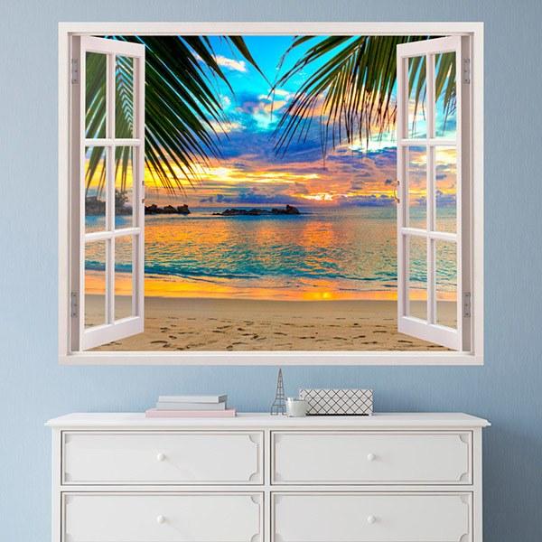 Adesivi murali 3d trompe l oeil finestra - Adesivi natalizi per finestre ...