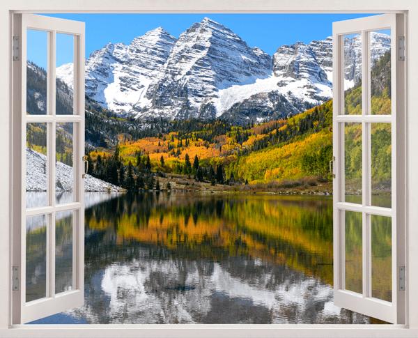 Adesivi Murali Montagna, valle e sul lago