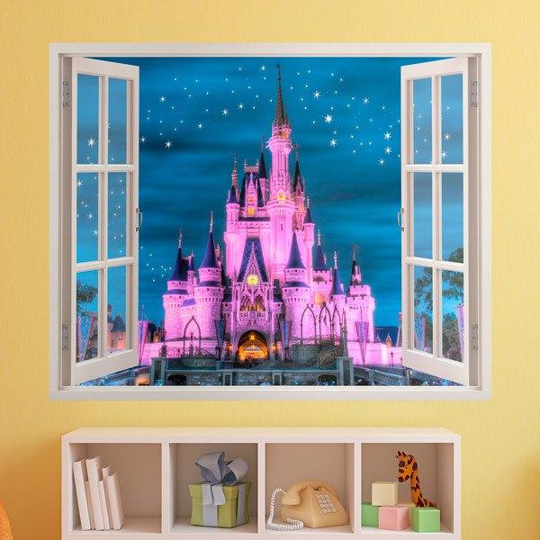 Adesivi murali 3d trompe l oeil finestra per bambini - Adesivi natalizi per finestre ...