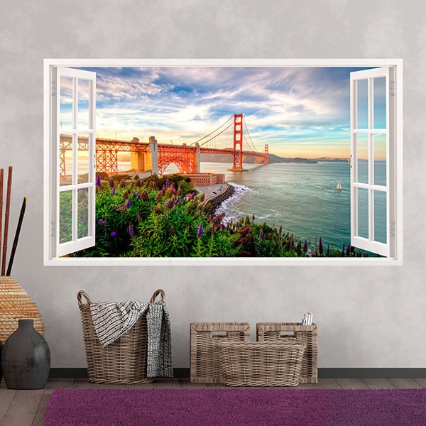 Adesivi Murali: Golden Gate panoramico