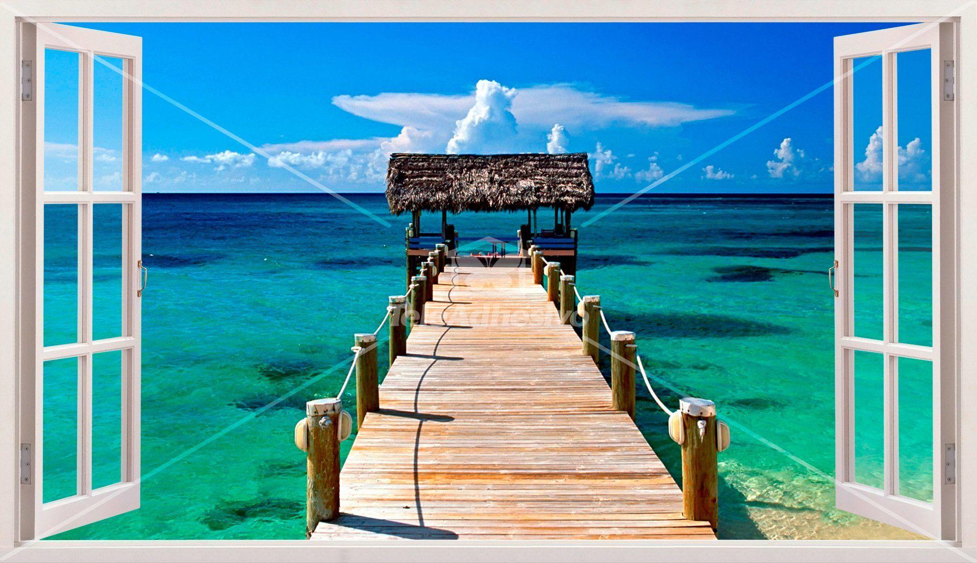 Panoramica Porta Di Accesso Al Mare A Bahamas