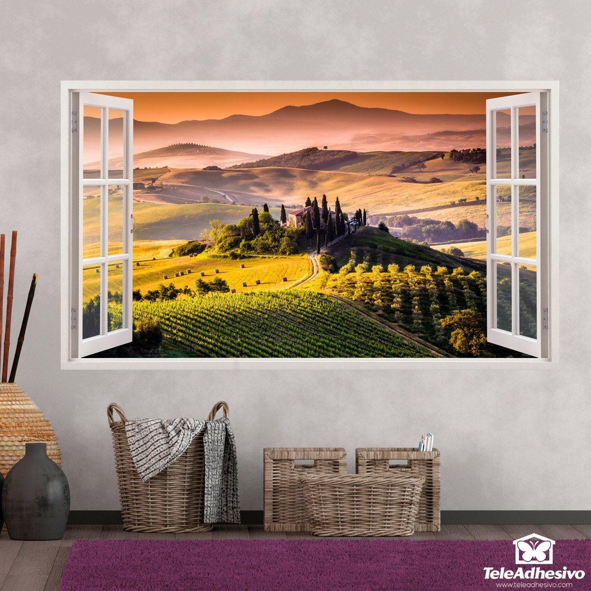 Panoramica Toscana paesaggio italiano