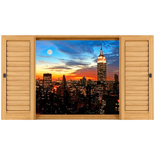 Vinile 3d finestra panoramica vinile 3d finestra for Adesivi murali 3d